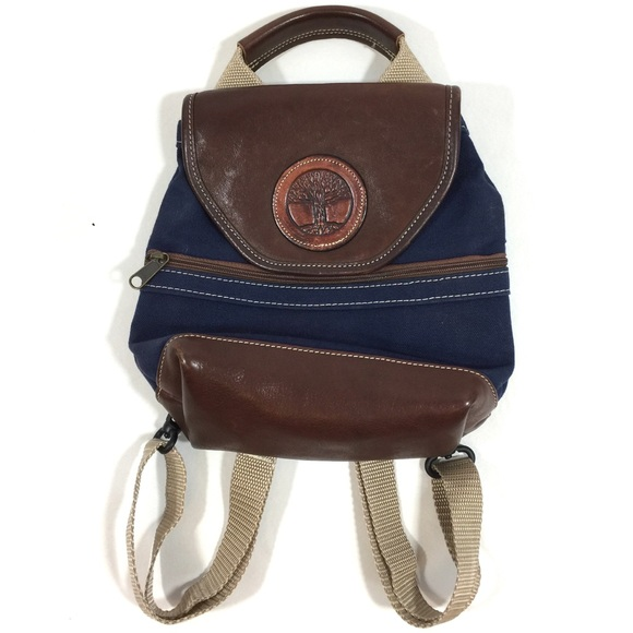 Timberland Leather and canvas backpack purse. M 5bbe9f6faa5719286a04e1b9 d2e097b5834f7